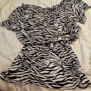 Tops - Zebra print tunic / mini
